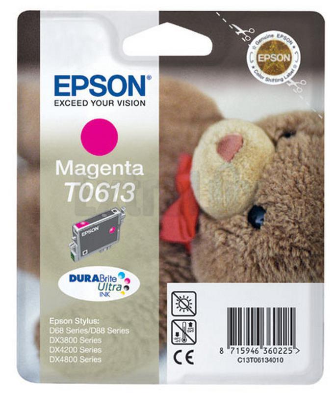 EPSON ČRNILO C13T06134010 MAGENTA ZA D68/88/3850/4850