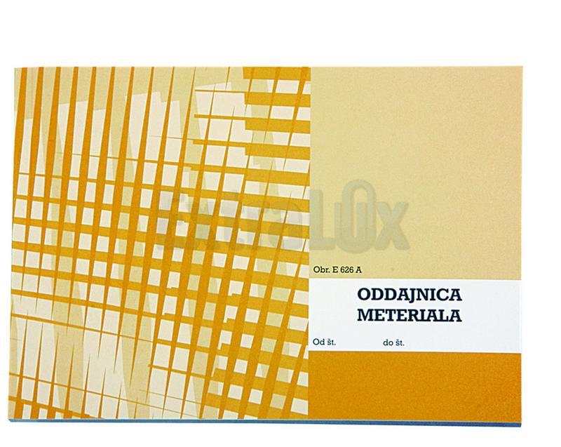 OBRAZEC E 626A ODDAJNICA MATERIALA A5 KOPIRNA (6,26A)