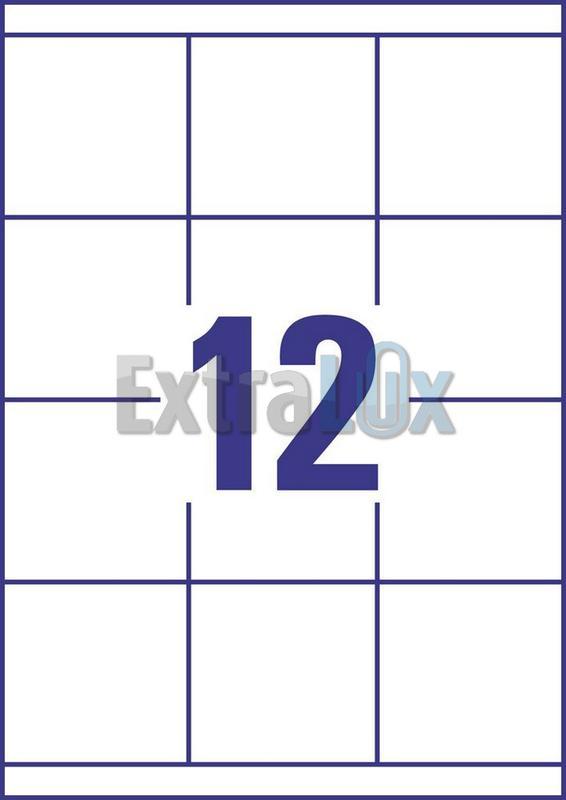 ETIKETE AVERY ZWECKFORM 3661 70X67,7 1/100