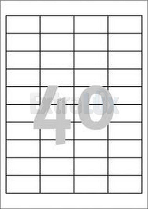 ETIKETE AVERY ZWECKFORM 3657 48,5X25,4 1/100
