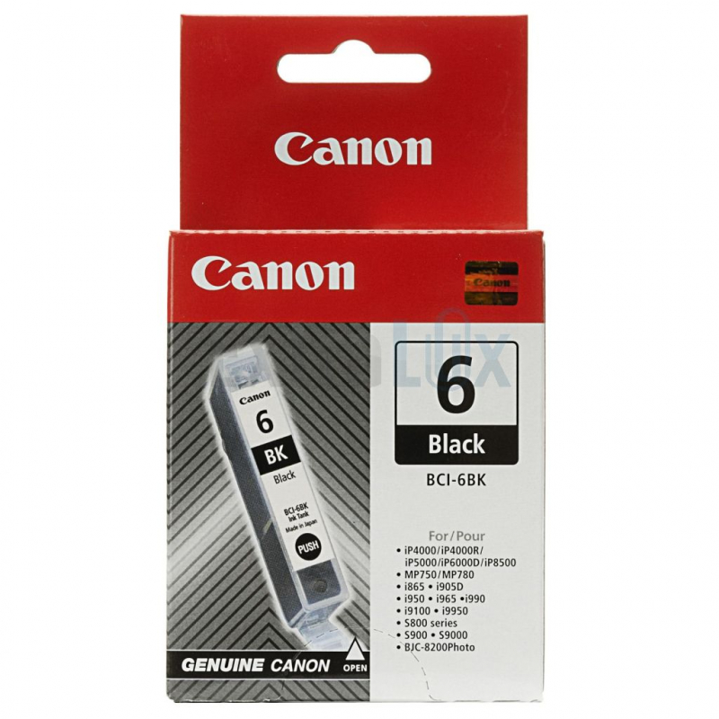 CANON ČRNILO BCI-6 BLACK ZA I950, S800/900/9000, BJC8200PHOTO