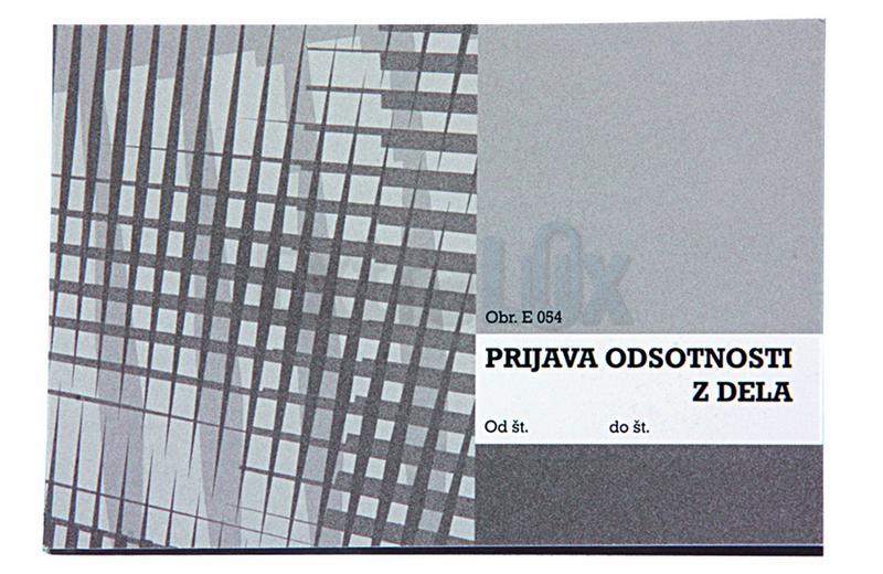 OBRAZEC E 054 PRIJAVA NASTOPA DOPUSTA A6 KOPIRNI (0,54)