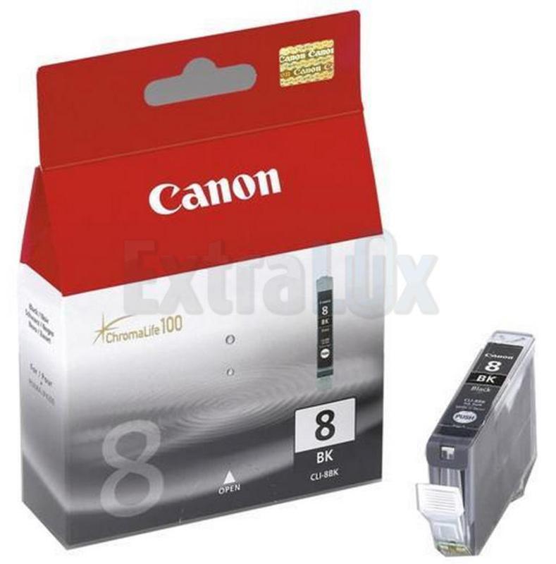 CANON ČRNILO CLI-8BK BLACK ZA IP4200/4300/5200/5300/6600D/6700D, PRO9000