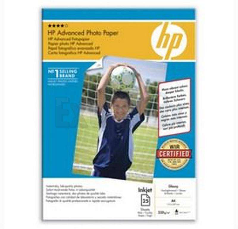 PAPIR FOTO A4 250G HP Q5456A INK JET ADVANCED PHOTO GLOSS 1/25