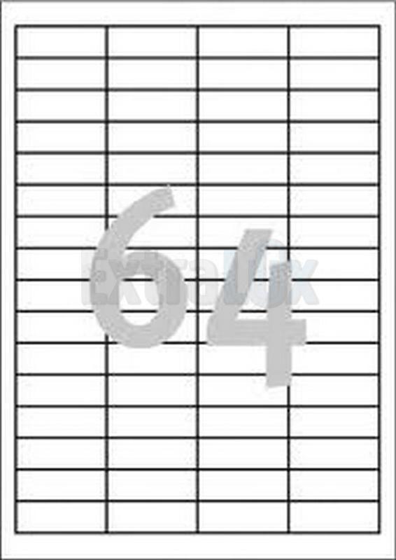 ETIKETE AVERY ZWECKFORM 3667 48,5X16,9 1/100