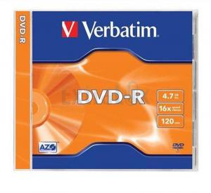 DVD-R VERBATIM 4,7GB 120MIN 16X JC 1/1