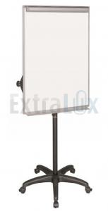 TABLA BELA NA STOJALU 70X102 BI-OFFICE NA KOLESIH BI4806175