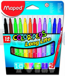 FLOMASTER MAPED 1/12 COLOR PEPS 57418