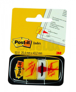 OZNAČEVALEC INDEX POST-IT 3M 680-31 25,4X43,2MM PODPIS
