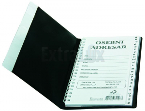 ADRESAR INDEX 195X115MM TEMNO MODER
