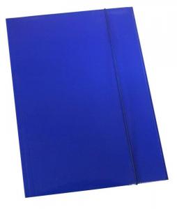 MAPA KARTONSKA Z ELASTIKO IN ZAVIHKI PLASTIFICIRANA 6067 A4 600G