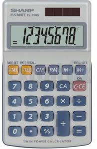 KALKULATOR ŽEPNI SHARP EL-250S-815 8 MESTNI