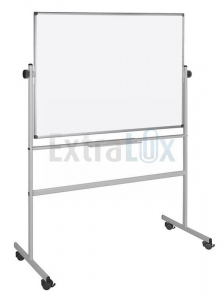 TABLA BELA NA STOJALU 120X150 BI-OFFICE VRTLJIVA BIQR0403