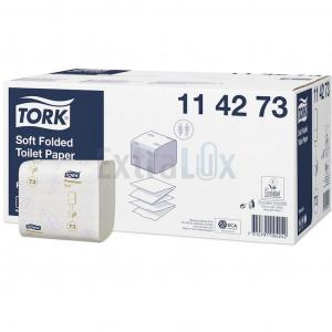 TOALETNI PAPIR DVOSLOJNI LISTIČI TORK 114273 T3 BELI REC 110X210MM 1/7560