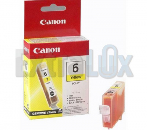 CANON ČRNILO BCI-6 YELLOW ZA I560/865/905D/950/956/9100, BJC8200PHOTO