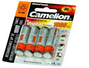 BATERIJA CAMELION POLNILNA AA/LR06 1,2V 1800 MAH 1/4