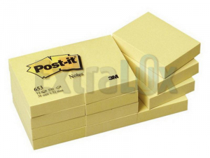 SAMOLEPILNI BLOK POST-IT 3M 653 38X51MM RUMEN 100L 1/1